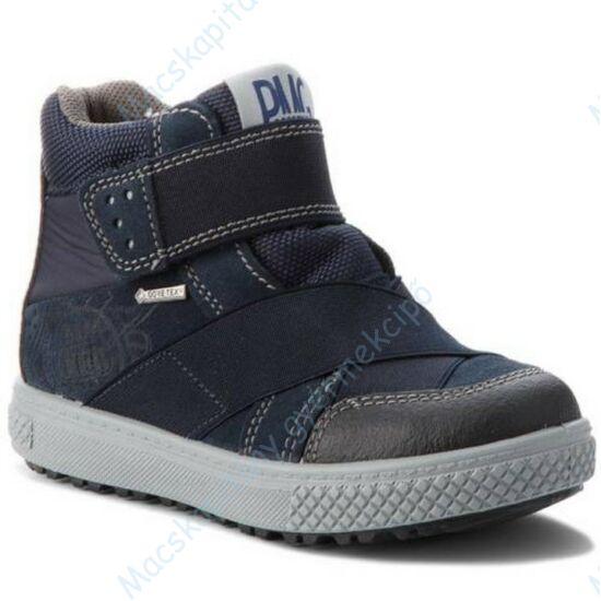 Primigi Gore-tex téli-átmeneti bőrcipő, teljesen vízálló; tépőzáras, sötétkék, 27-30.