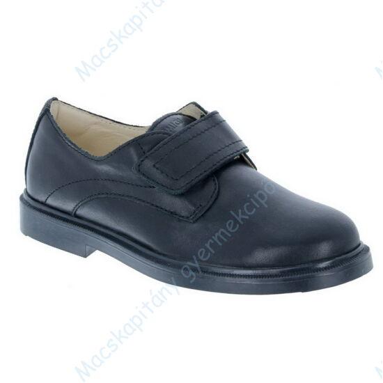 Primigi alkalmi bőrcipő fiúknak; tépőzáras, fekete, 30-40