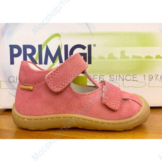 Primigi nyitott bőrcipő; két tépőzárral, kívül-belül bőr; lazac, 21-23.