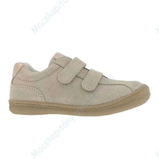 Primigi átmeneti bőrcipő két tépőzárral; rose-gold; 25-30.