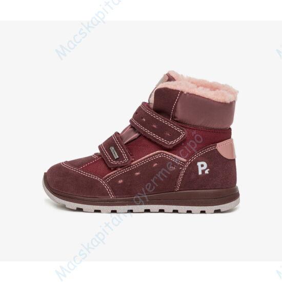 Primigi Gore-tex vízálló, bundás gyerekcipő, bordó-rózsaszín, 21-26.