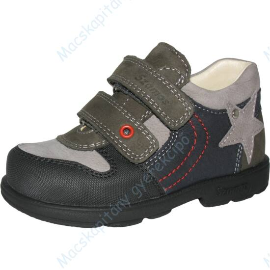 Szamos supinált átmeneti cipő bőr béléssel, szürke-antracit, 25-30.