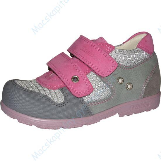 Szamos supinált gyerekcipő bőr béléssel, szürke-pink, 31-35.