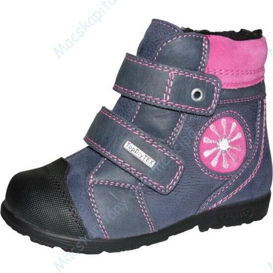 Szamos supinált, melegen bélelt bakancs vízálló Top Dry TEX réteggel, szürke-pink; 31-35.