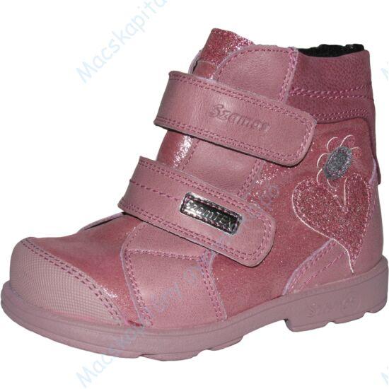 Szamos supinált, melegen bélelt bakancs, teljesen vízálló, csillogó rózsaszín, 23-24.