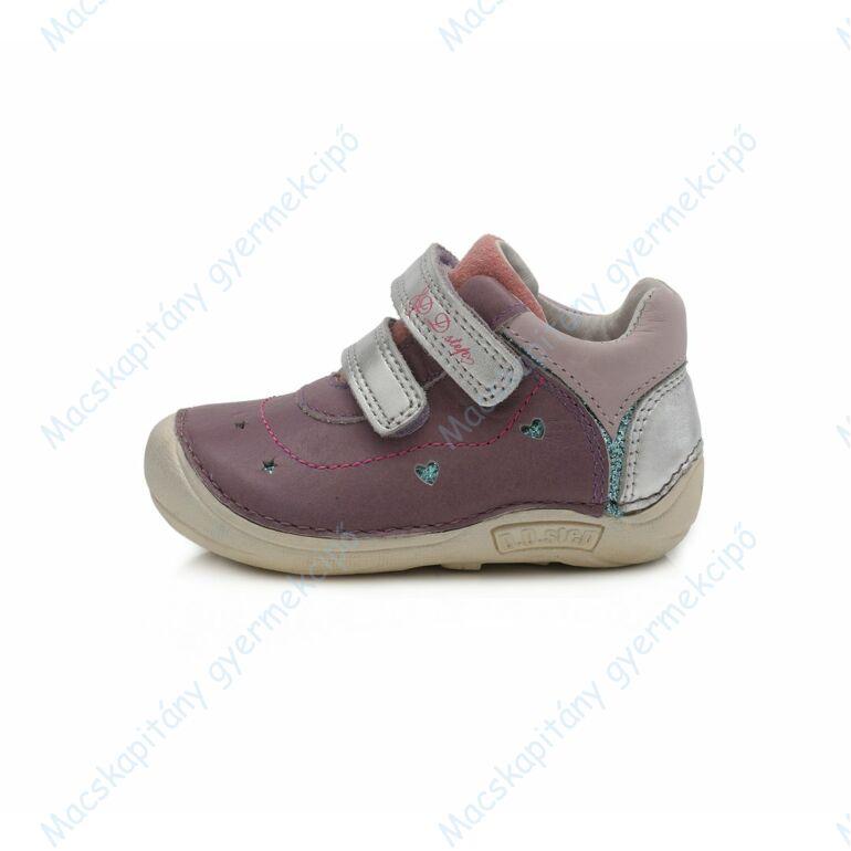 D.D.Step barefoot átmeneti cipő, levendula-ezüst, 19-24.