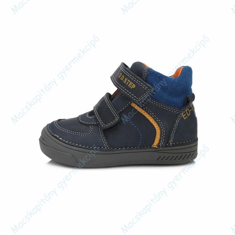 D.D.Step átmeneti  bőrcipő, sötétkék-narancs, 31-36.