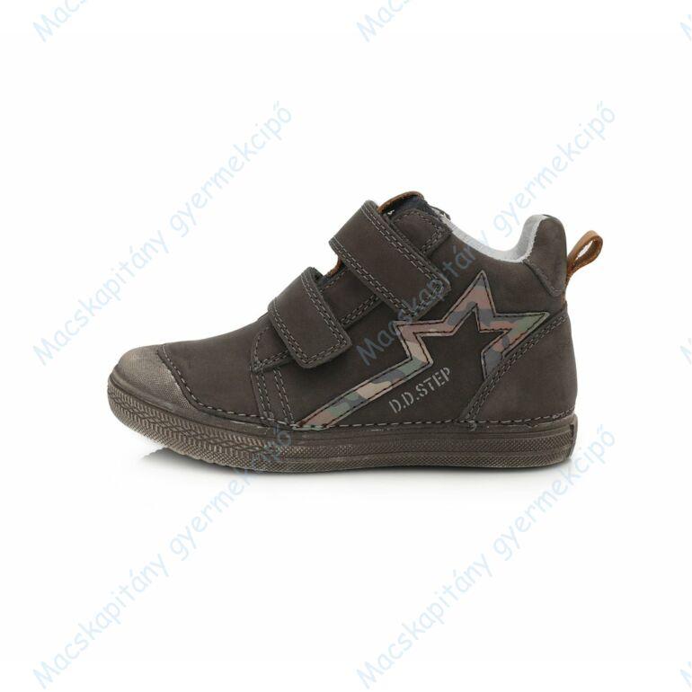 D.D.Step átmeneti  bőrcipő, szürke, csillagos, 25-30.