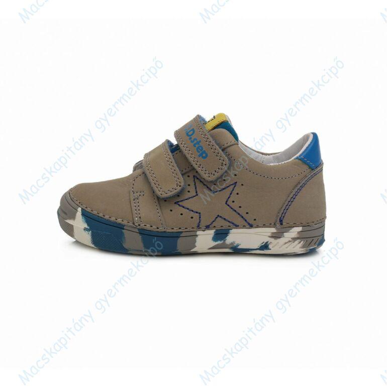 D.D.Step átmeneti bőrcipő, drapp-kék, 25-30.