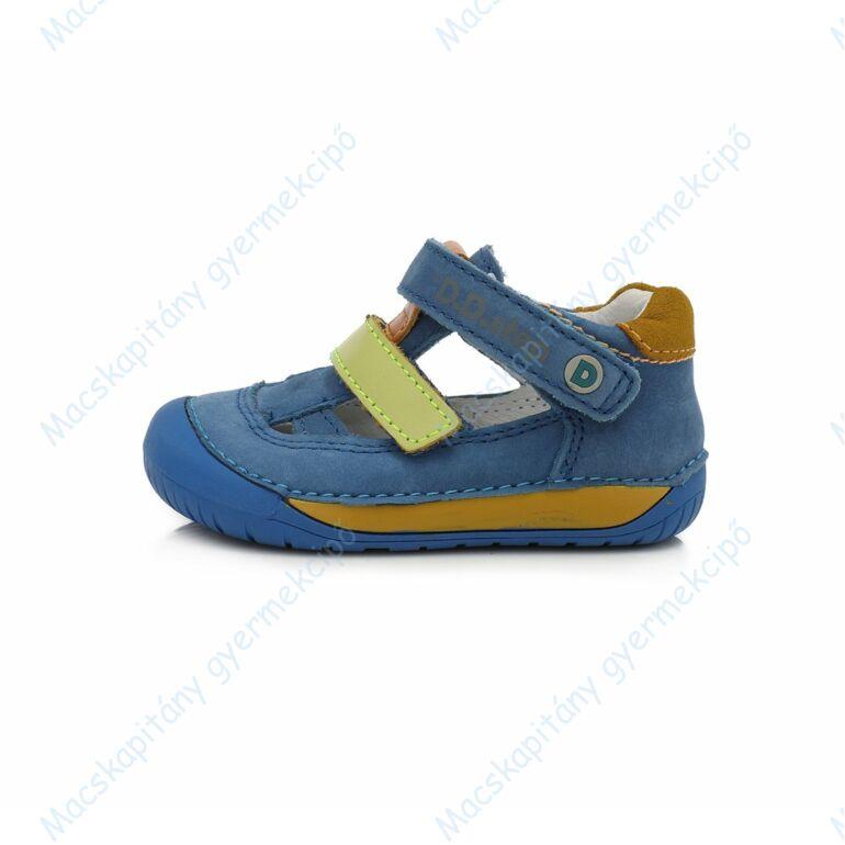 D.D.Step barefoot nyitott cipő, kék-mustár, 20-25.