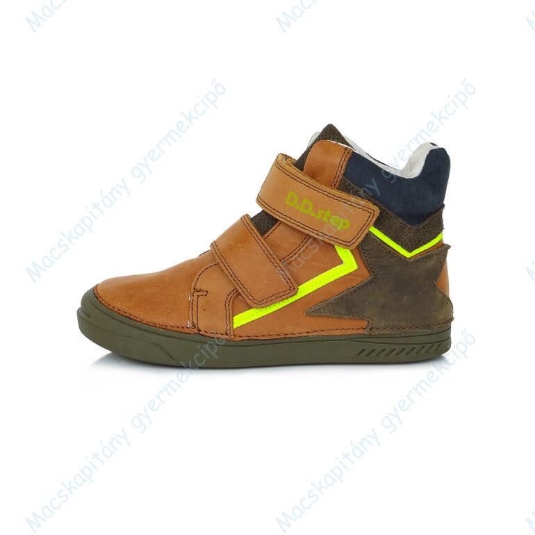 D.D.Step átmeneti  bőrcipő, barna-khaki, csillagos, 25, 26, 27, 28, 29, 30.