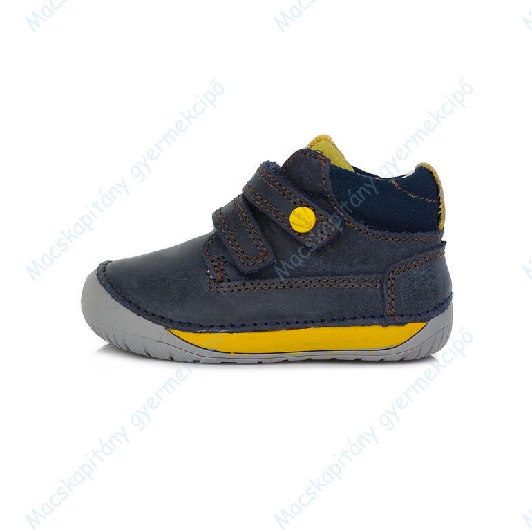 D.D.Step barefoot átmeneti cipő, navy-sárga, 20, 21, 22, 23, 24, 25.