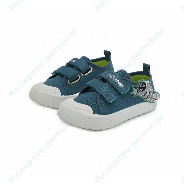 D.D.Step vászoncipő, kék, űrhajós, 26-31.