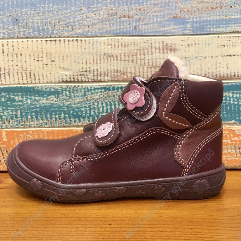 Falcon bundás gyerekcipő, padlizsán, virágos, 27-31.