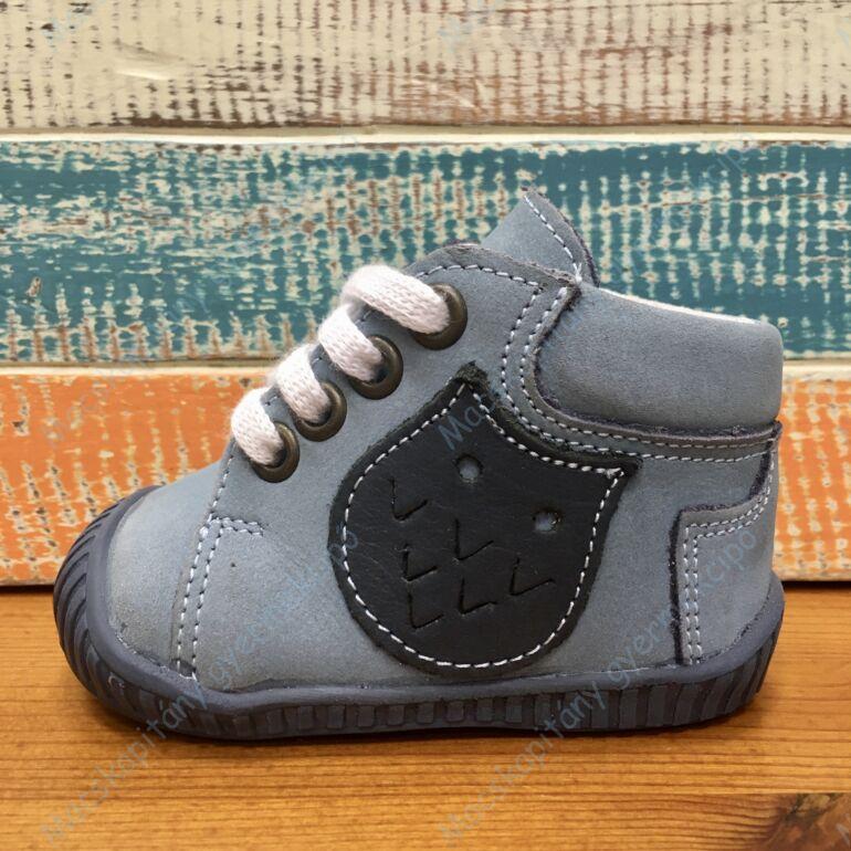 Maus első lépés cipő, világoskék, baglyos.