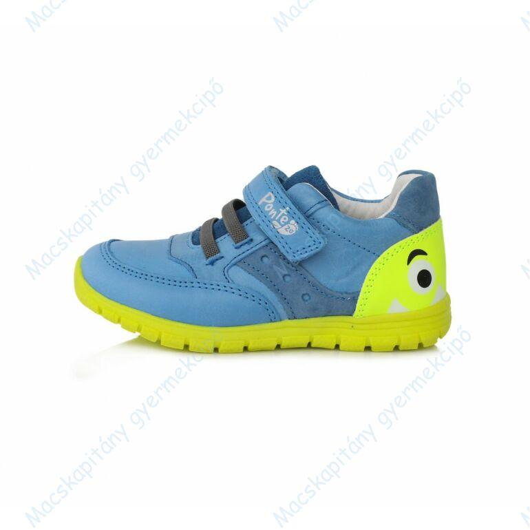 Ponte 20 supinált átmeneti cipő, kék-neonzöld, 22-27.