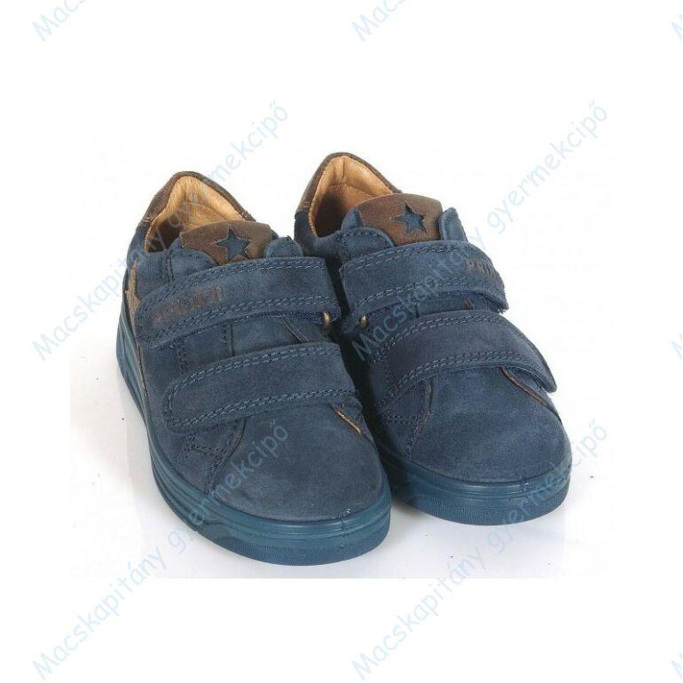 Primigi átmeneti bőrcipő két tépőzárral, sötétkék-barna, 28-35.