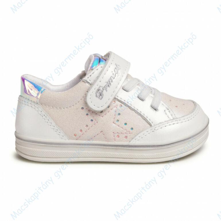 Primigi átmeneti bőrcipő tépőzárral és elasztikus fűzővel, krém-gyöngyház, 21-24.