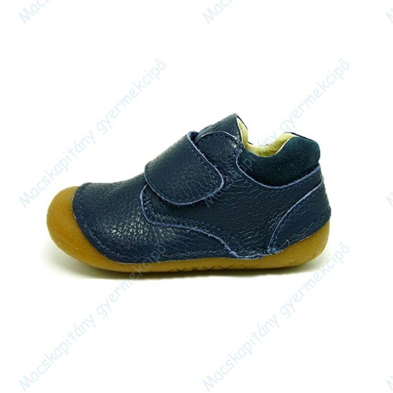 Primigi első lépés bőrcipő, sötétkék, tépőzáras, 19-22.