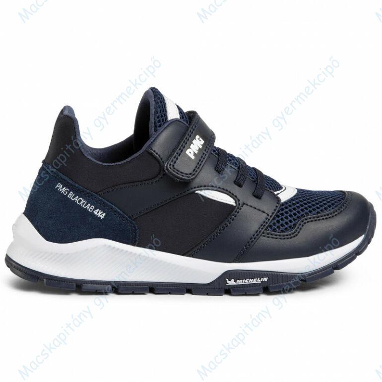 Primigi - Michelin sportcipő elasztikus fűzővel és tépőzárral, navy-fehér, 28-35.