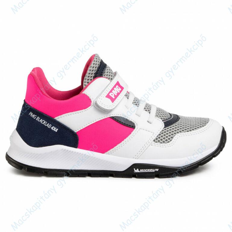 Primigi - Michelin sportcipő elasztikus fűzővel és tépőzárral, navy-fehér-pink, 28, 29, 30, 34.