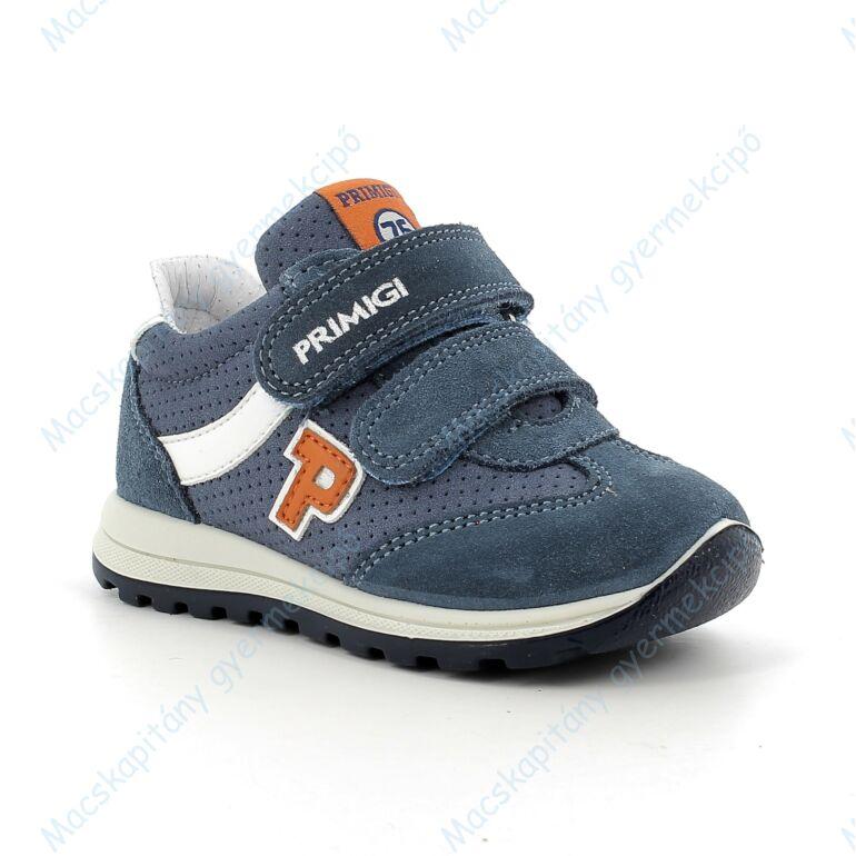 Primigi átmeneti bőrcipő, kék-narancs, 21-24.