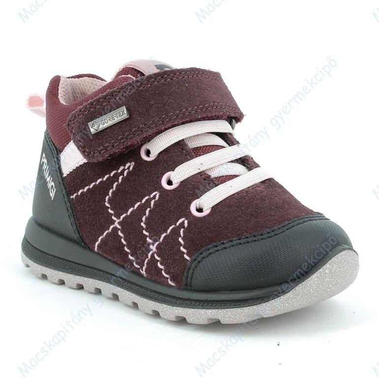 Primigi Gore-tex vékony béléses bőrcipő, teljesen vízálló, bordó-rózsa, 24, 25, 26, 27, 28, 29.