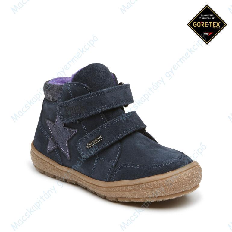 Primigi Gore-tex téli-átmeneti cipő, teljesen vízálló, sötétkék, oldalán csillaggal, 30-35.
