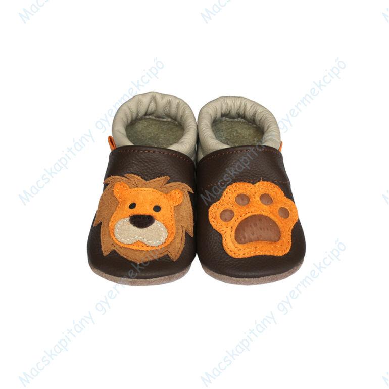 Puhatalpú bőrcipő, 3D oroszlán, 19-26.