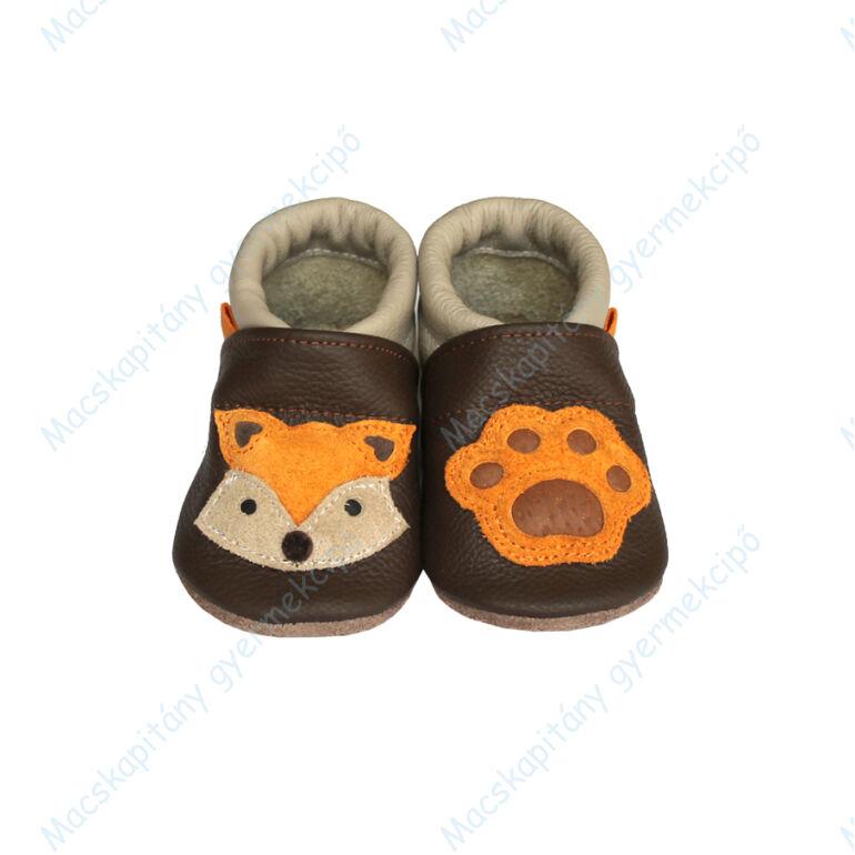 Puhatalpú bőrcipő, 3D róka, 19-26.