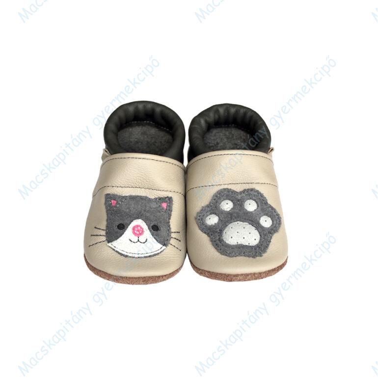 Puhatalpú bőrcipő, 3D cica, 19-26.