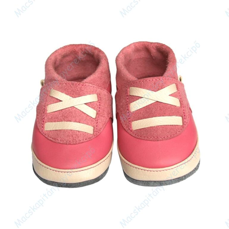 Puhatalpú bőr bébi sportcipő, pink-púder.