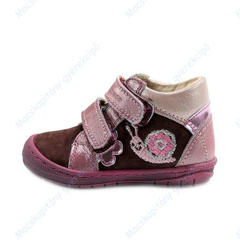 Szamos Kölyök első lépés cipő, mályva-rózsaszín, csigás, 20-24.