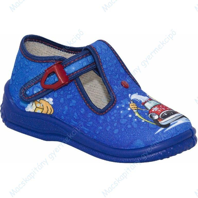 Zetpol nyitott vászoncipő csattal, kék-piros, autós,  20-24.