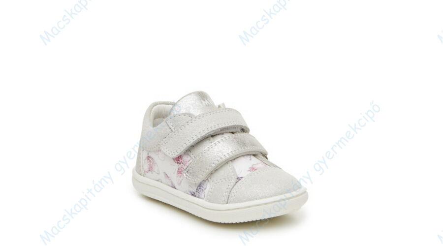 1dd39c251d Primigi átmeneti bőrcipő két tépőzárral; ezüst-fehér, pillangós 21-26.